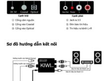 Bộ chuyển Optical-cổng quang sang AV KIWI KA-02 Digital sang Analog